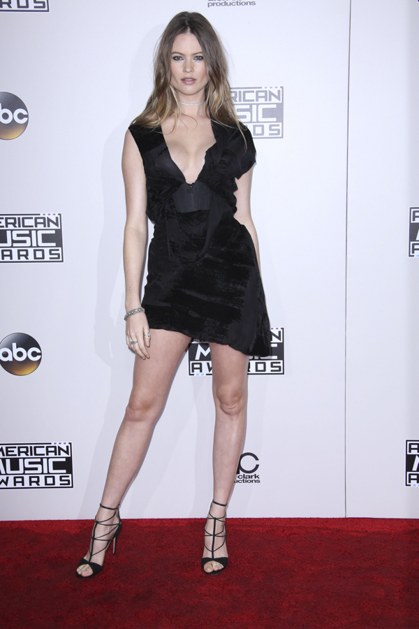 The perfect LBD, model-wife of rocker Adam Levine, Behati Prinsloo stuns in Vivienne Westwood.
