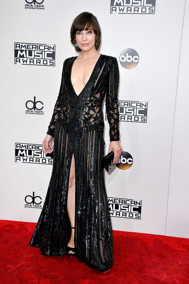 Also in Elie Saab, Milla Jovovich brought the stars all her own!
