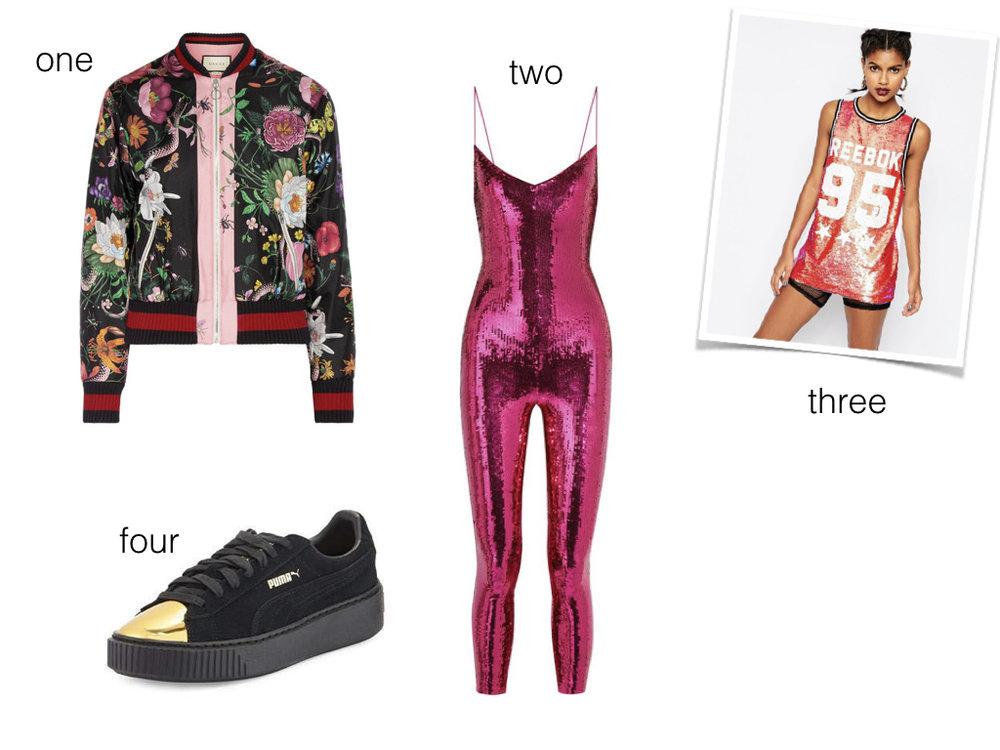 one.  Gucci , $2,900 | two.  Saint Laurent , $2,094 | three.  Reebok , $59 | four.  Puma , $110
