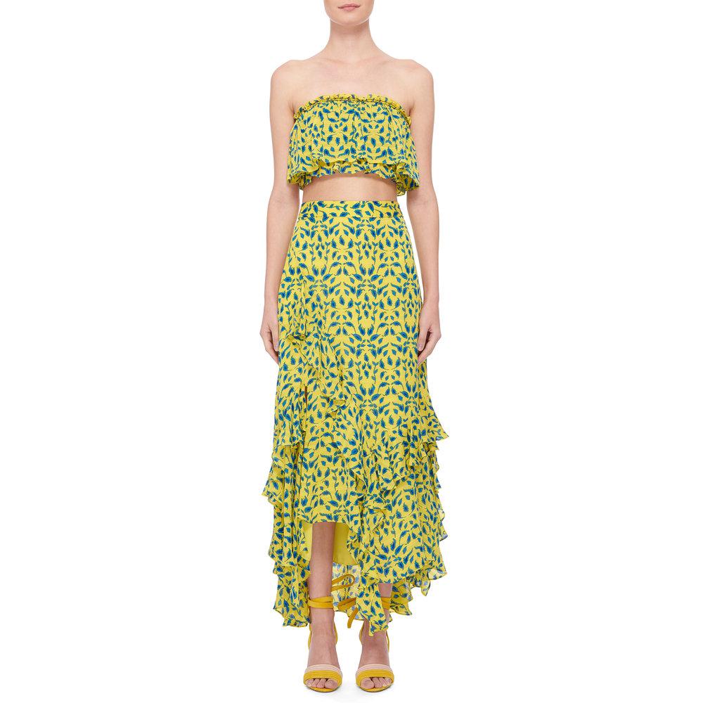 Tanya Taylor  Top , $225 &  Skirt , $595