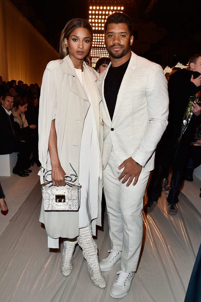Mr & Mrs Wilson looking godly in all white