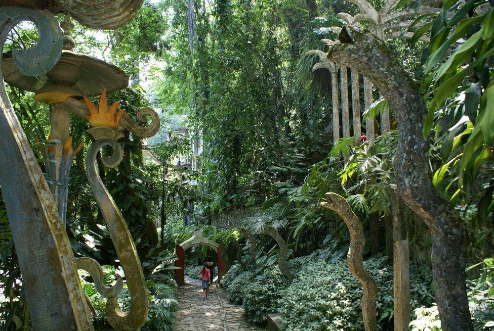 Las Pazos Secret Garden created by Edward Jones