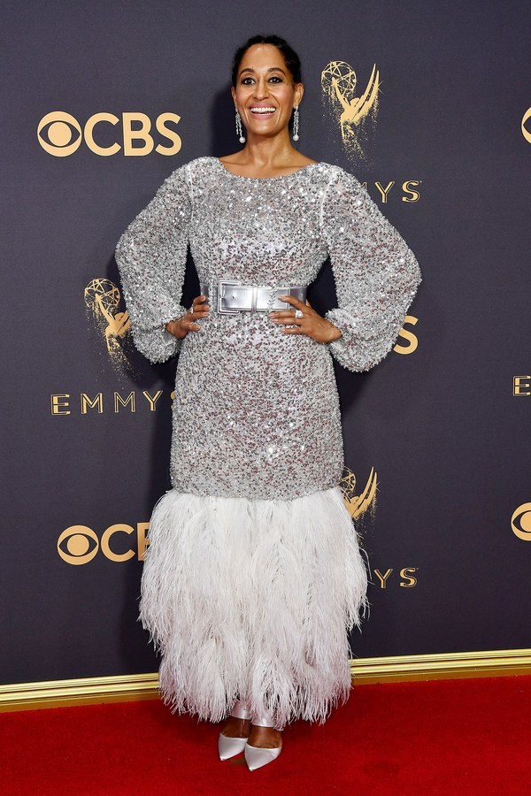 Tracee Ellis Ross in Chanel, Roger Vivier, and custom Irene Neuwirth