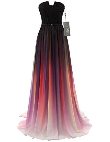 JAEDEN Gradient Chiffon Evening Dress $150