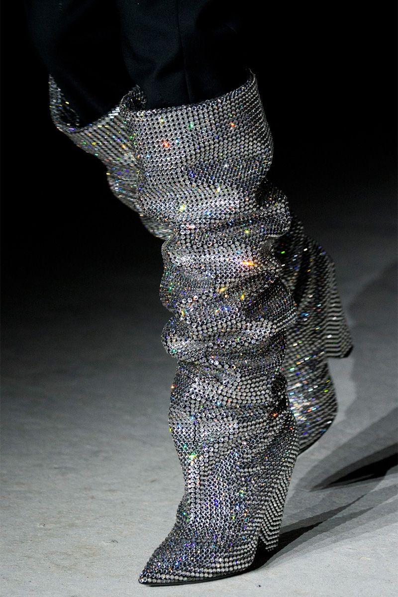 Niki Swarovski crystal-embellished leather knee boots  $10,000