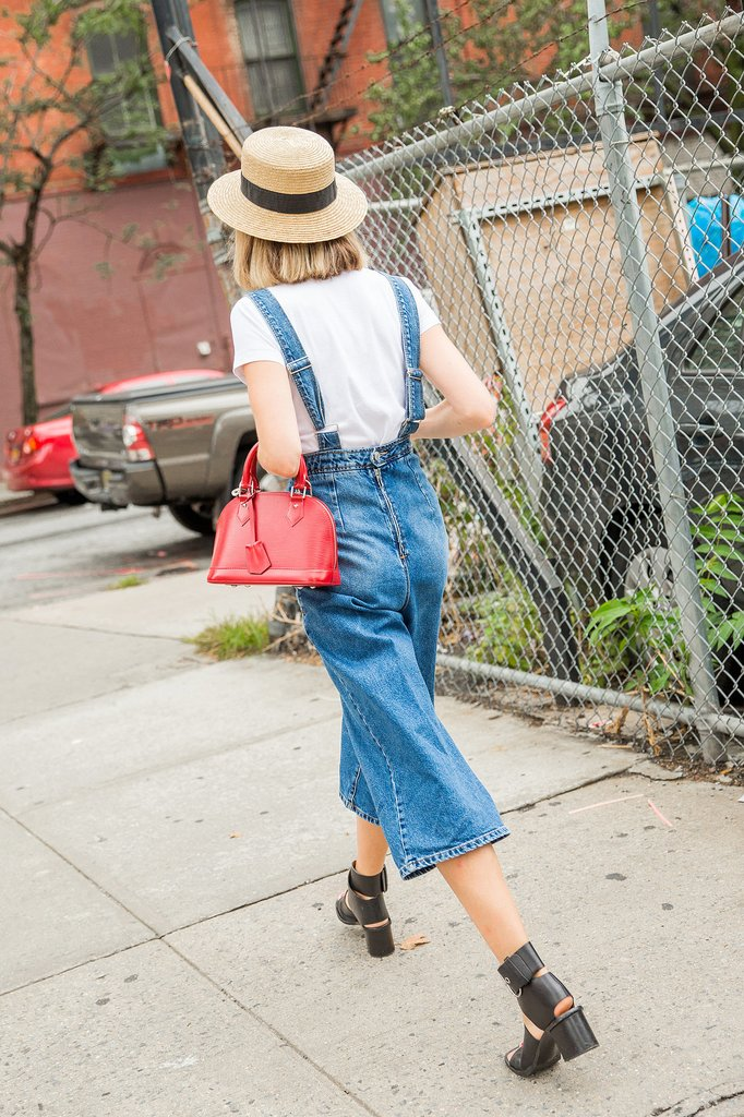 Cropped Overalls With Sandals
