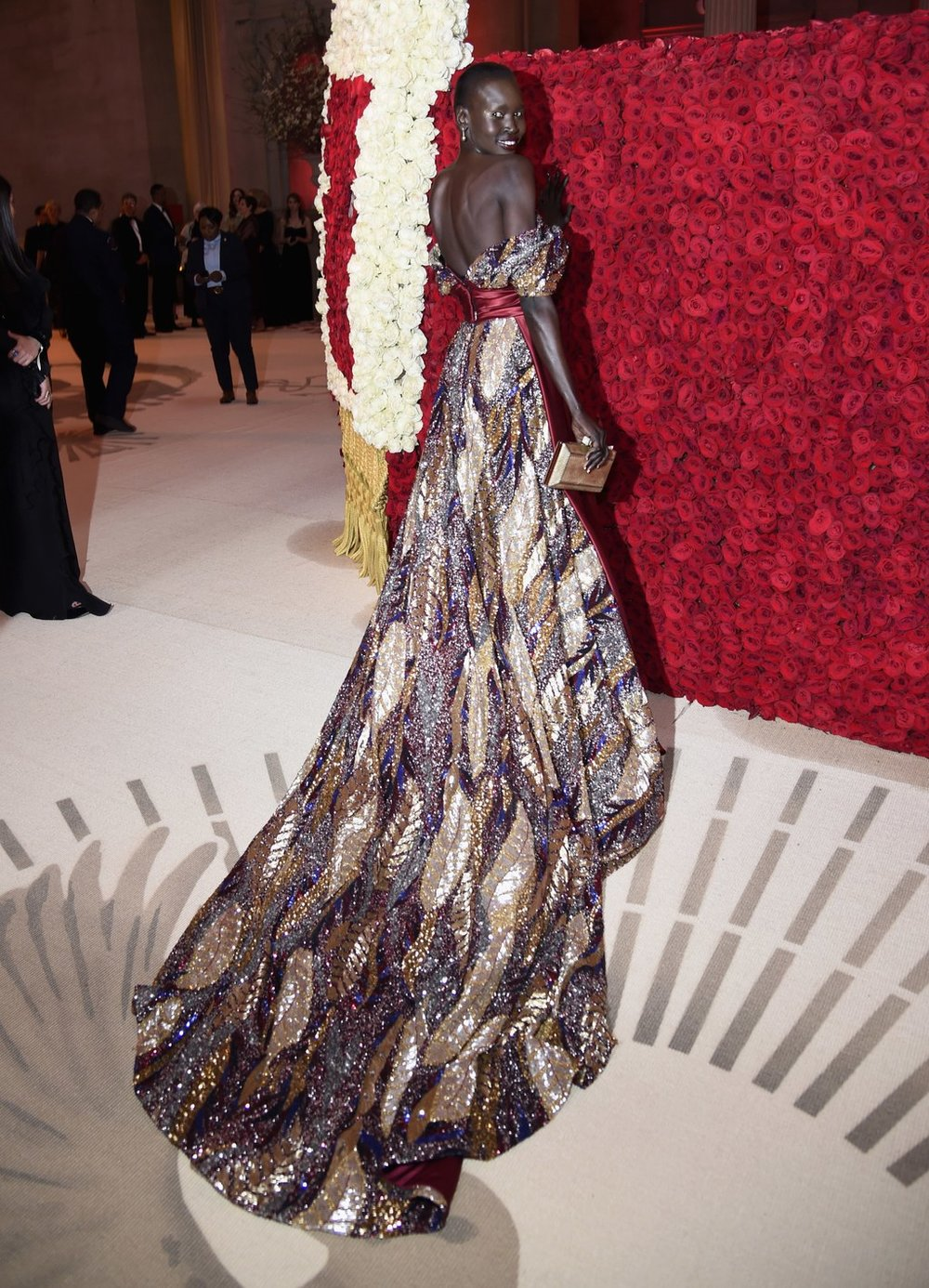 Alek Wek in H&M on carpet.jpg