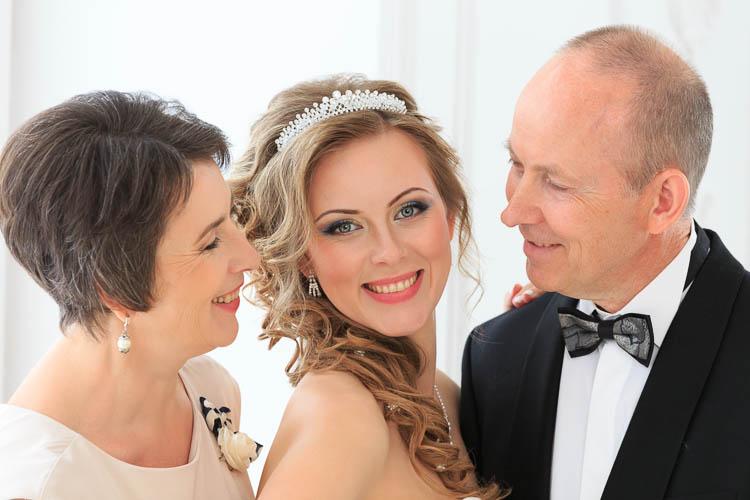 Свадебная церемония, фотографии невесты и родителей