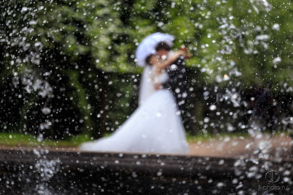 Фонтаны, жених и невеста