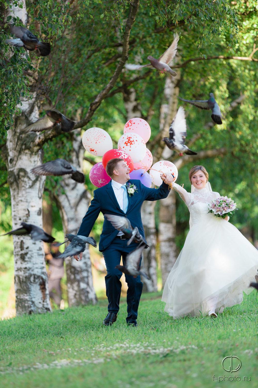 Воздушные шарики на свадебную прог