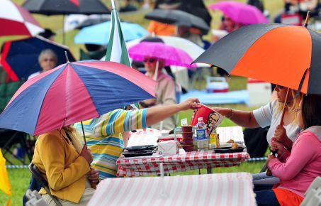 Umbrella-tastic - stylish British picnics