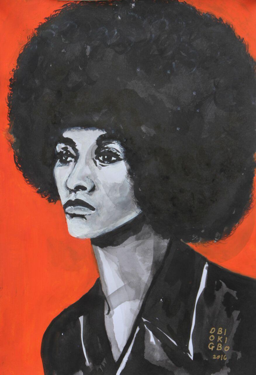 Angela Davis Portrait by Obiageli Okigbo