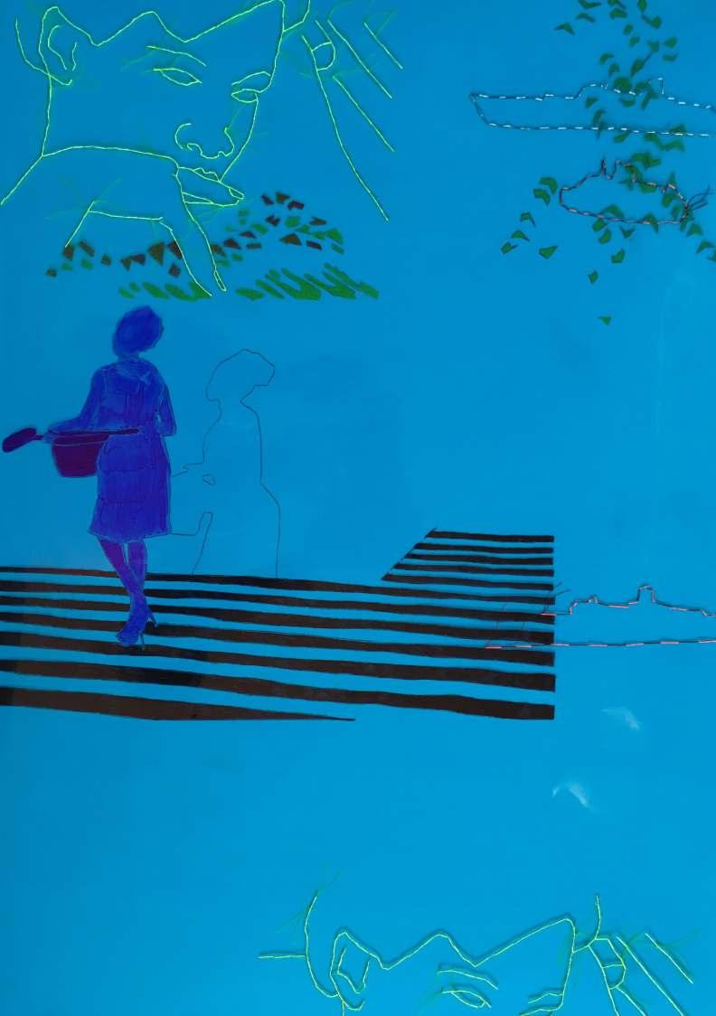 There are many ways to fall into the sea (Blue) by Wura Okunji