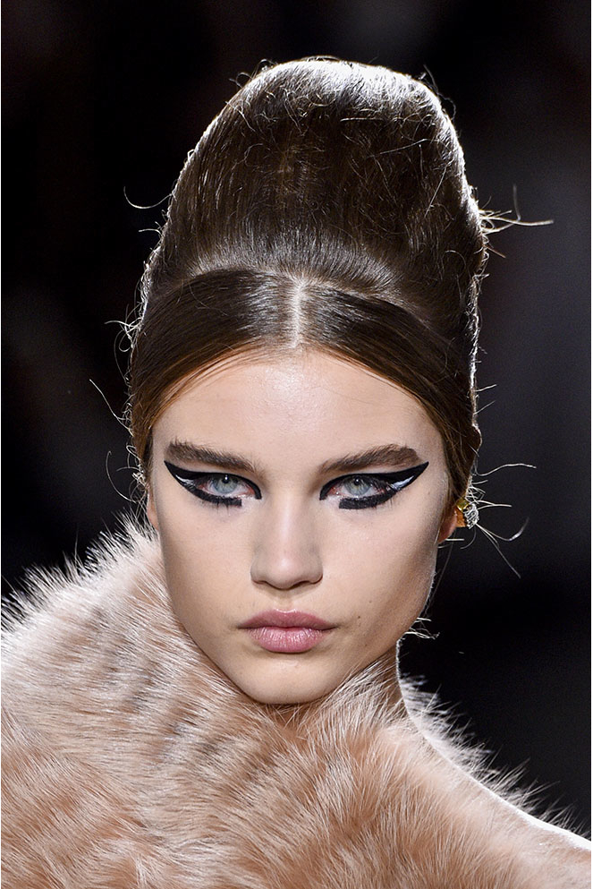 The Haute Couture highlighted feline eyes from Fendi