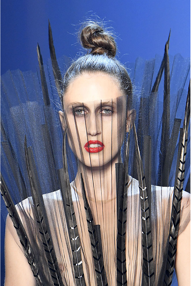 The audacious smokey-eyes from  Jean Paul Gaultier