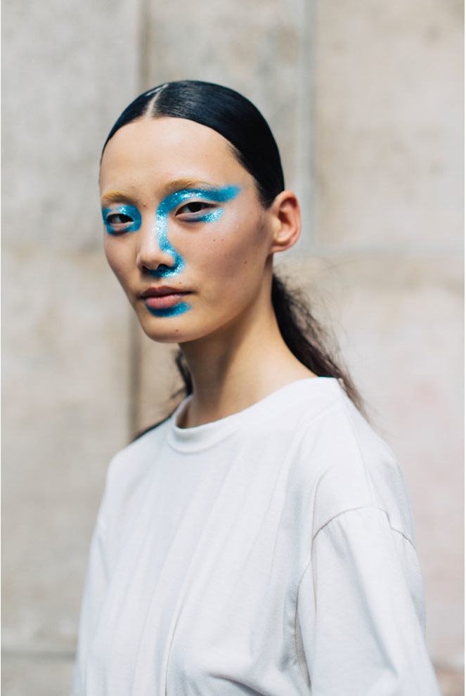 The glittering blue spread from Martin Margiela