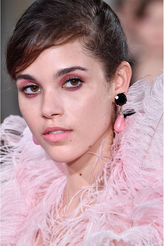 The  Armani Prive  romantic pink look