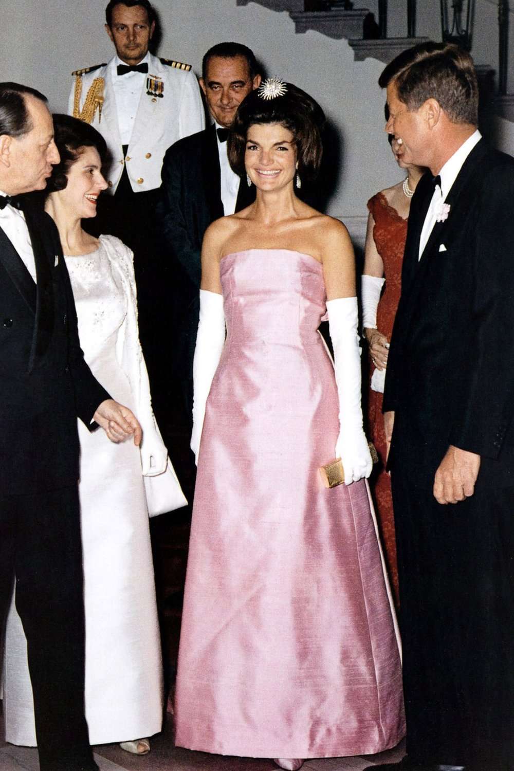 Jacqueline Lee Kennedy Onassis was an American book editor and socialite who was First Lady of the United States during the presidency of her husband, John F. Kennedy, from January 1961 until his assassination in November 1963.