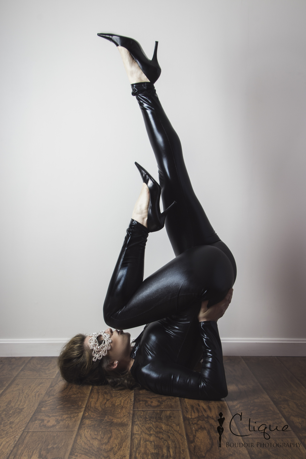 leather catsuit boudoir