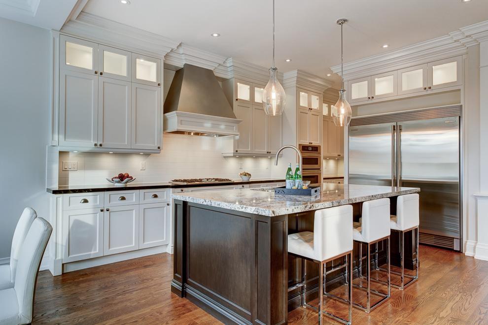 Kitchen - transitional custom home