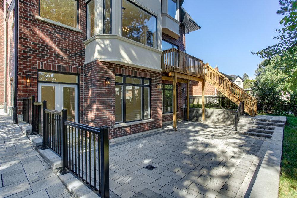 Toronto custom home - rear exterior and patio