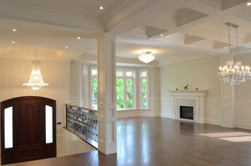 Willowdale transitional custom home - interior