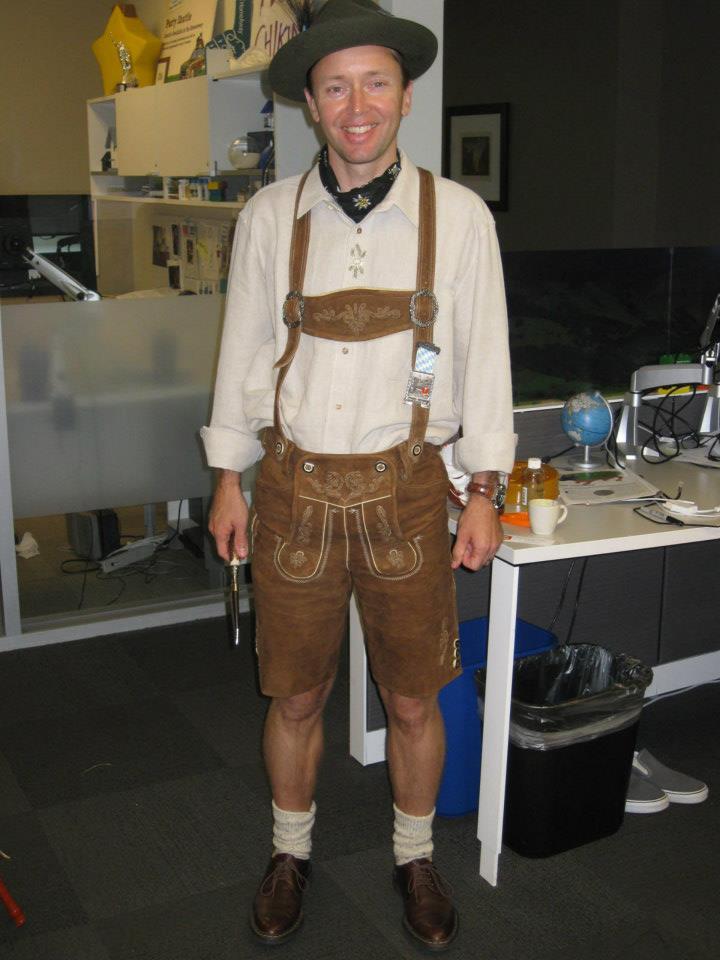 Brent's winning Halloween costume
