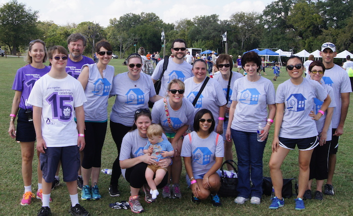 The HomeAway 2014 Buddy Walk team