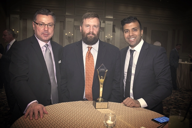 From left to right.   Director of North American Customer Support Brian Keaster, Director of North American Customer Operations David Carruth and VP of Business Development Taleeb Noormohamed.