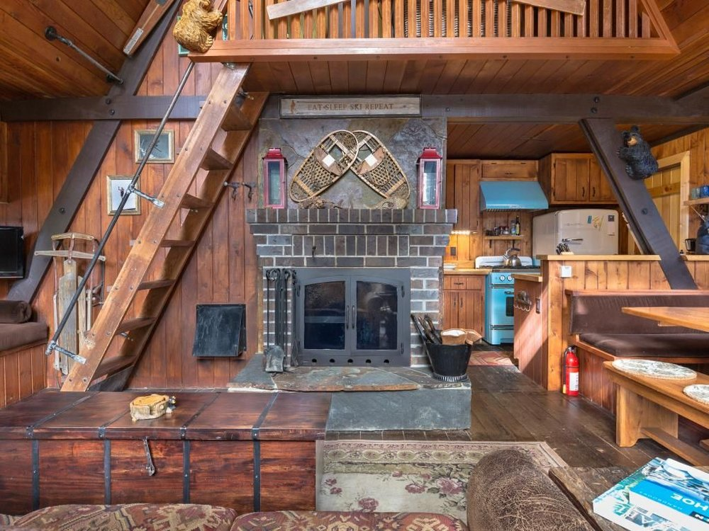 This Cabin Has Everything You Could Possibly Want: An Incredible Kitchen,  Cozy Living Spaces And The Option To Hit Some Nearby Ski Slopes.