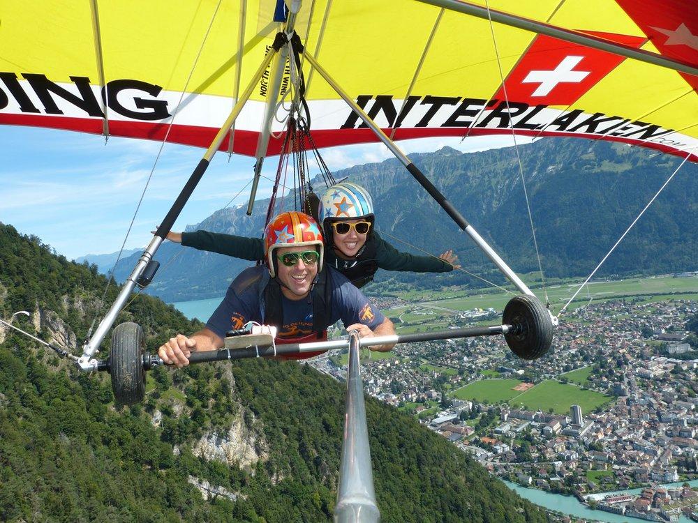 Hang gliding in Interlaken, Switzerland