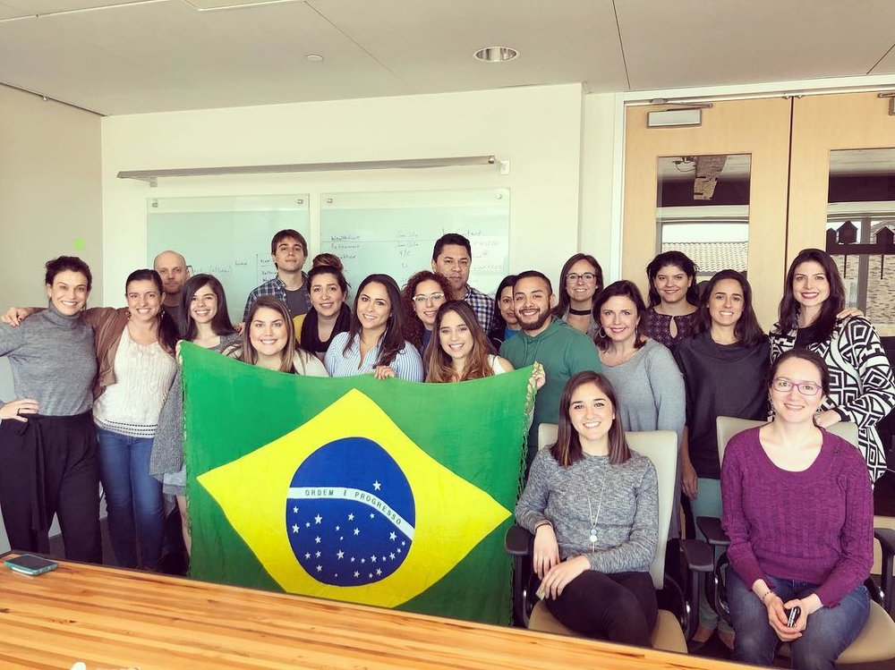 The HomeAway Brazil team joined us for a meeting and even taught us some Portuguese!
