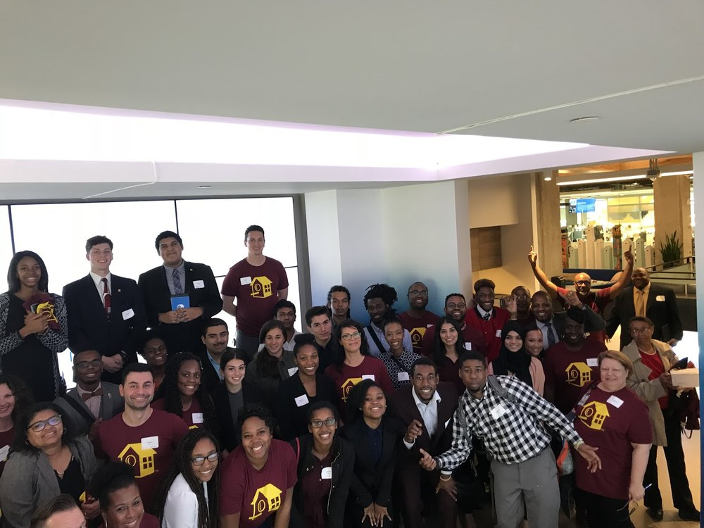 Huston-Tillotson University visiting the HomeAway office for a BAG panel discussion.