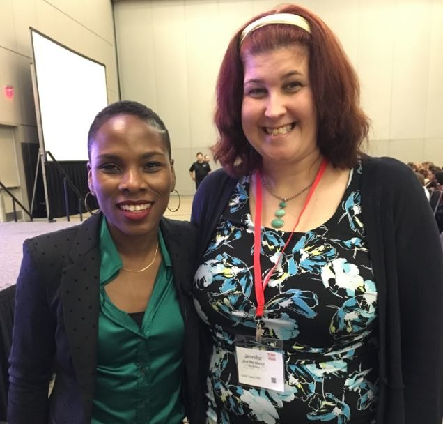 Luvvie Ajayi and I after her session.