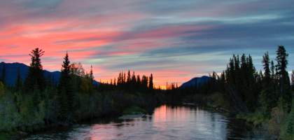 Sunset in Northern Canada.