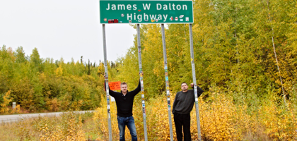 At the start of the famously dangerous Dalton Highway.
