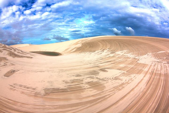 Beautiful scenery at Lençóis Maranhenses.