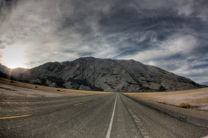 Alaskan Highway, somewhere between White Horse, Canada and the U.S. border.