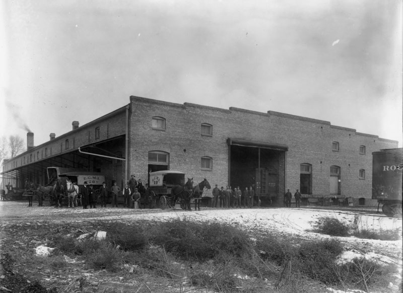 The workshop pictured in 1905