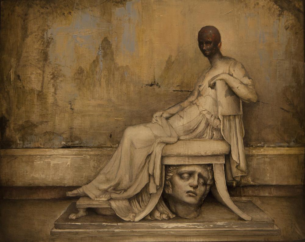 """Dan Quintana, 'Hypatia', 9.75"""" x 7.5"""", Oil on Wood"""