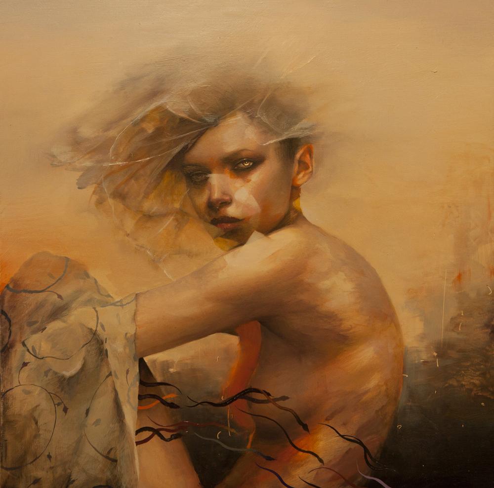 """Dan Quintana, 'Leve', 12"""" x 12"""", Oil on Wood"""