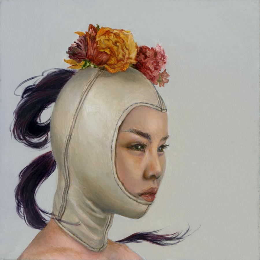"Karen Hsiao, 'Flower', 3"" x 3"", Oil on Wood"