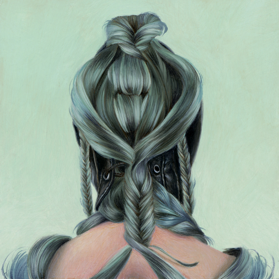 "Karen Hsiao, 'Mint', 3"" x 3"", Oil on Wood"
