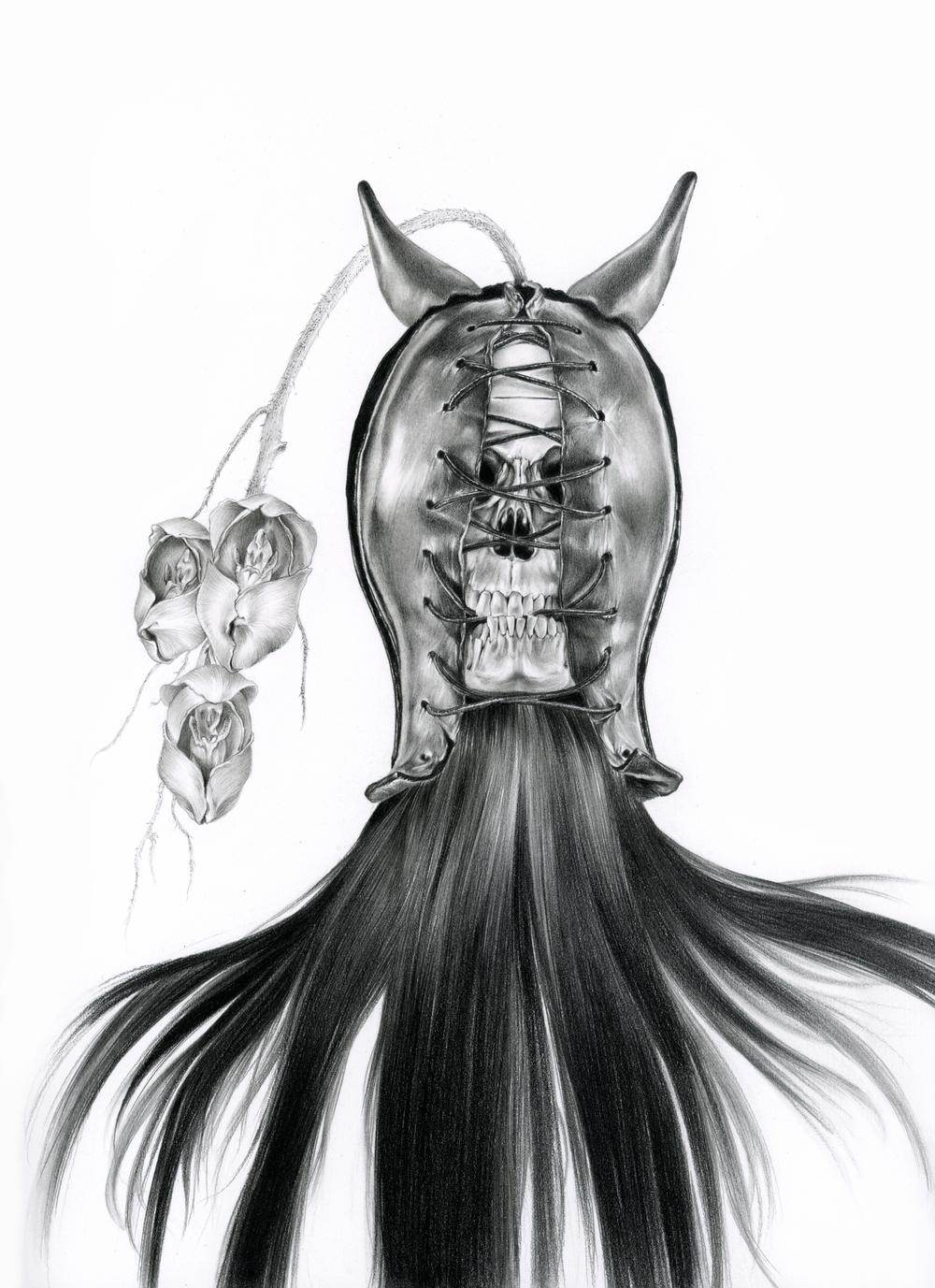 "Karen Hsiao, 'Biter', 11"" x 17"", Graphite on Vellum"