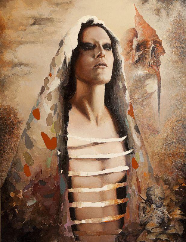 "Dan Quintana, 'Dethrone', 17.75"" x 24"", Oil on Wood"