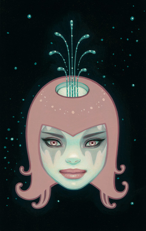"Tara McPherson, 'Sometimes', Acrylic on Birch, 4"" x 6"""