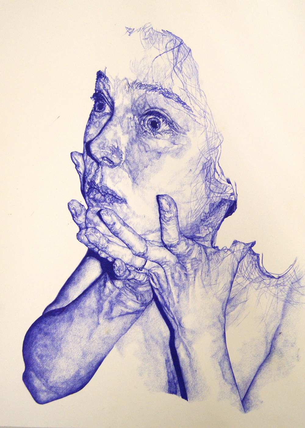 "Sara Muirhead, 'Untitled', Ball Point on Paper, 20.75"" x 17"""