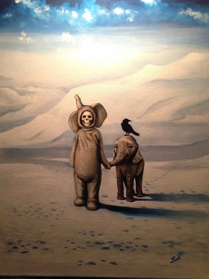 """Misaki Sawada, 'Stroll', Oil on Canvas, 18"""" x 24"""""""