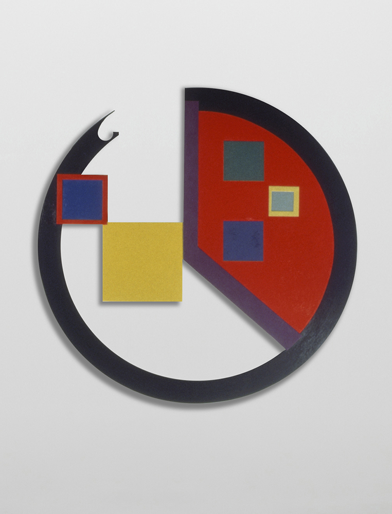 Marilyn Lerner   Jilly's Circle,  1988  Oil on wood  48 inches diameter