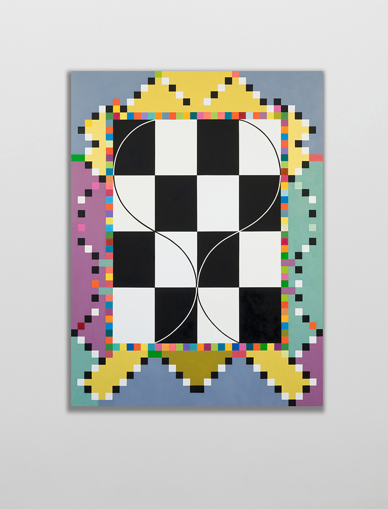 Marilyn Lerner   Snakes and Ladders,  2007  Oil on wood  48 x 36 inches